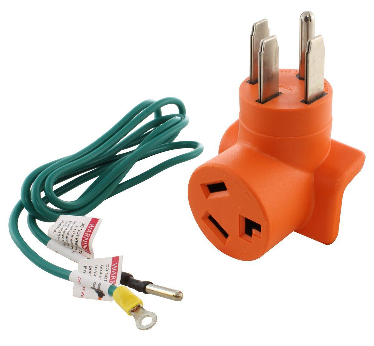 Ac Works Ad14501030 14 50p 50a 4 Prong Plug To 10 30r 3 Prong Dryer Outlet In 2020 Dryer Outlet Plugs It Works