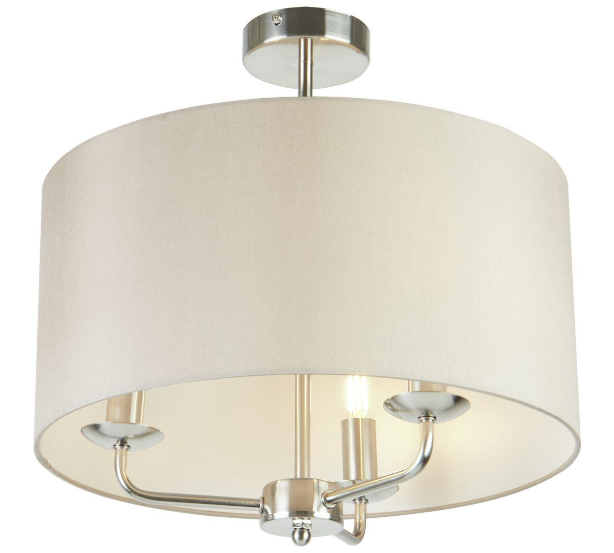 Home Grace 3 Light Ceiling Fitting Silver Ceiling Lights Wall Lights Ceiling