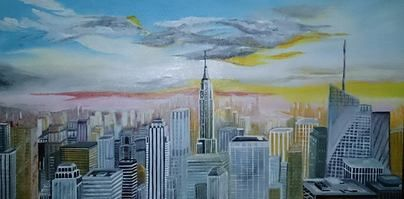 Dipinto su tela 100x50 colori acrilici