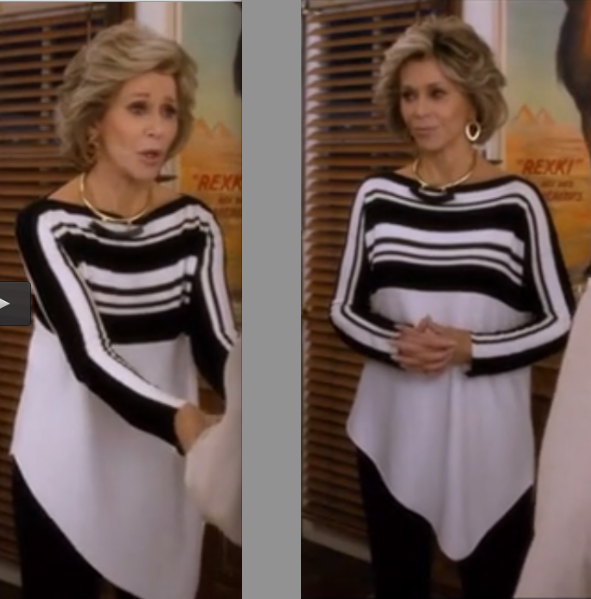 love Jane Fonda clothes in Grace and frankie