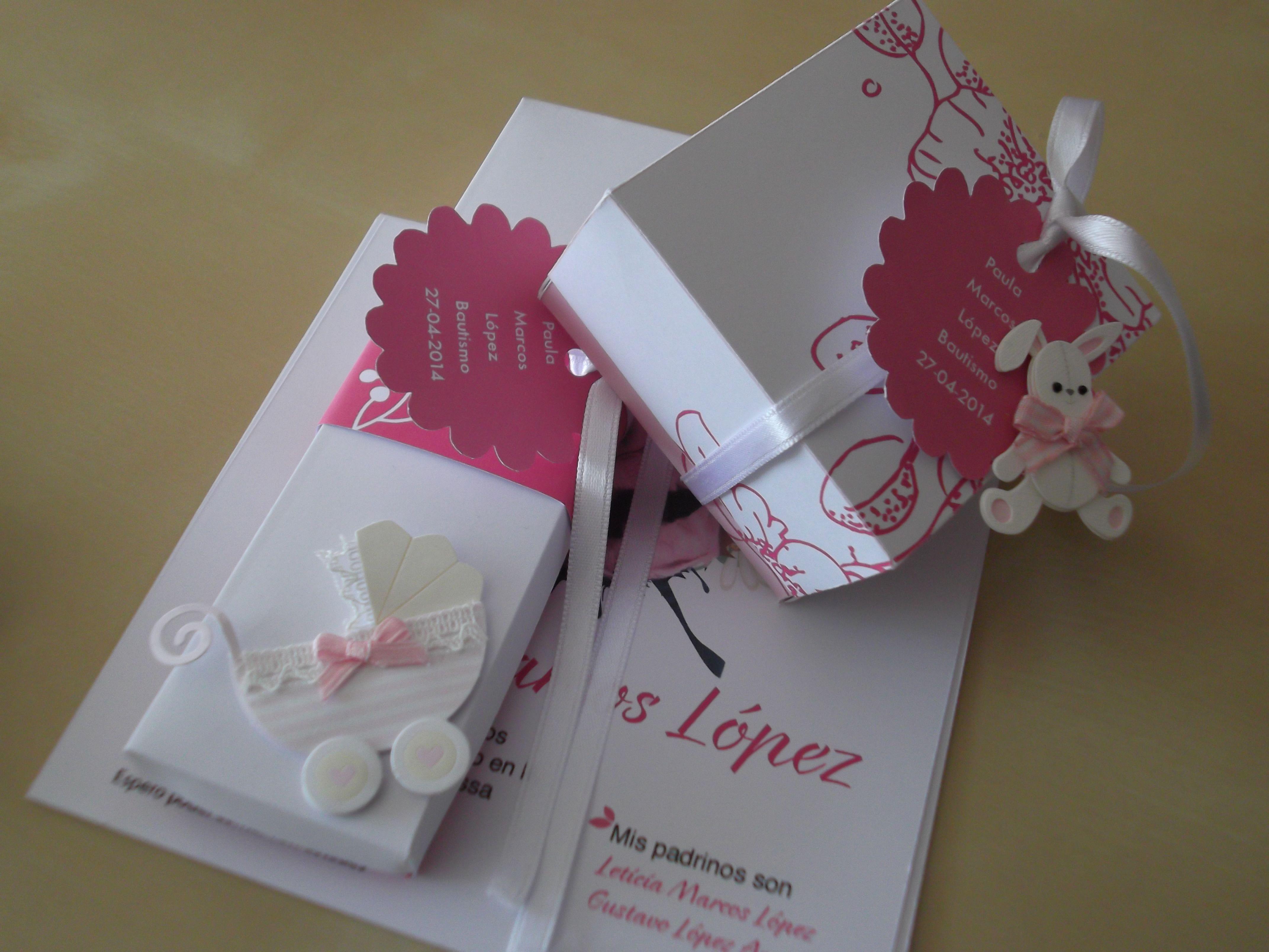 Packaying personalizado para butismo y tarjetas