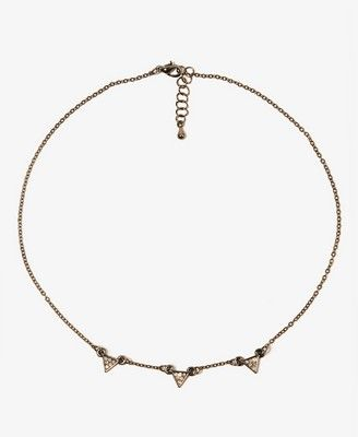 Rhinestoned Triangle Necklace - FOREVER 21