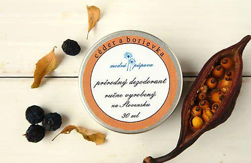 Krémový dezodorant pre mužov - céder a borievka (30 ml)