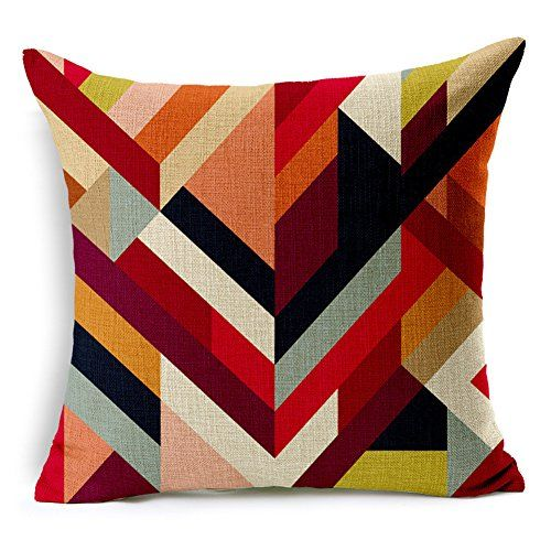 Abstract Geometric Printed Cotton Linen Decorative Pillow Cushion Cover, 17.7 x 17.7inches Poens Dream http://www.amazon.co.uk/dp/B00QF7UUXY/ref=cm_sw_r_pi_dp_1YzOvb1R1WZF0