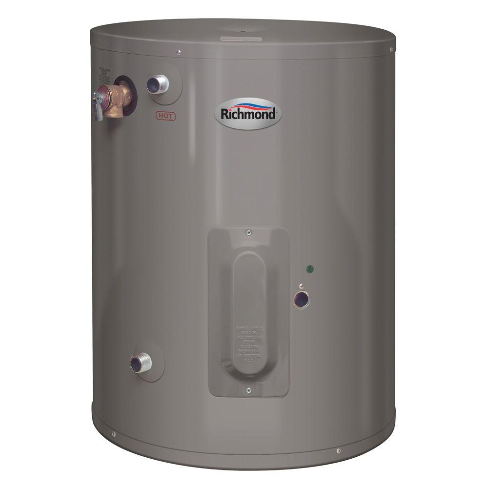 Richmond 15 Gal 6 Year Electric Point Of Use Electric Water Heater 6ep15 1 The Home Depot Water Heater Electric Water Heater Hot Water Heater