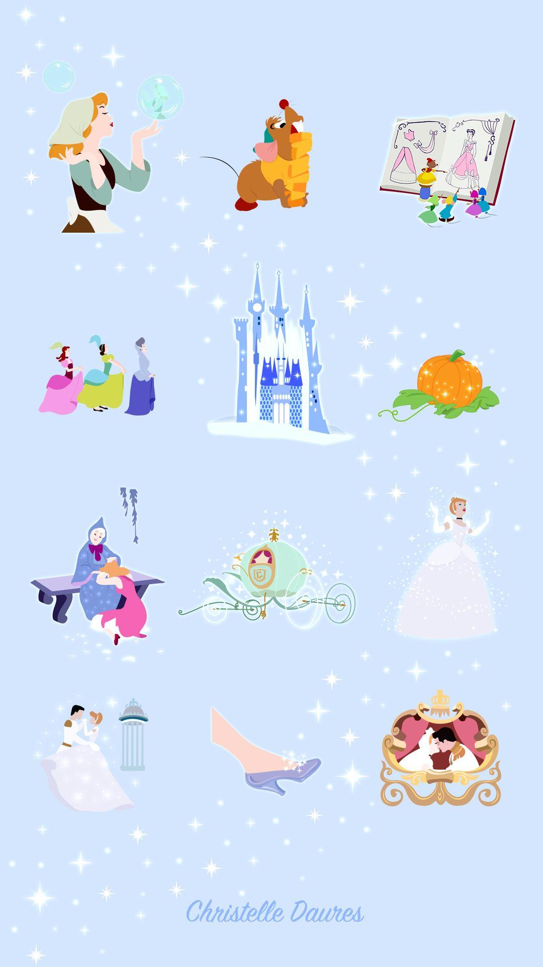 Cendrillon Fond D 233 Crans Disney Crecre Disney Princesses Pinterest Fondo De Pantalla