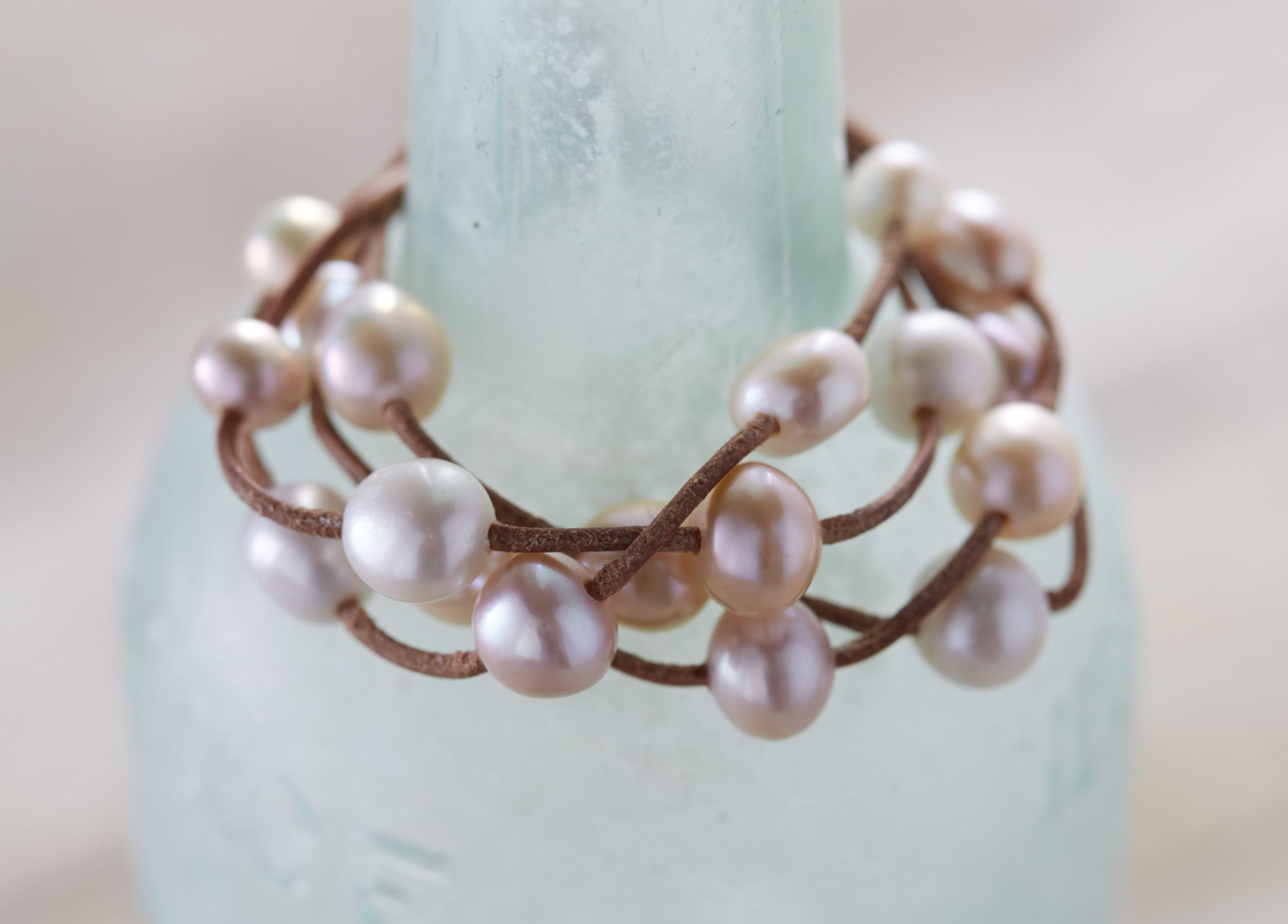 web necklace co pearls pastel colored designer used pearl art product