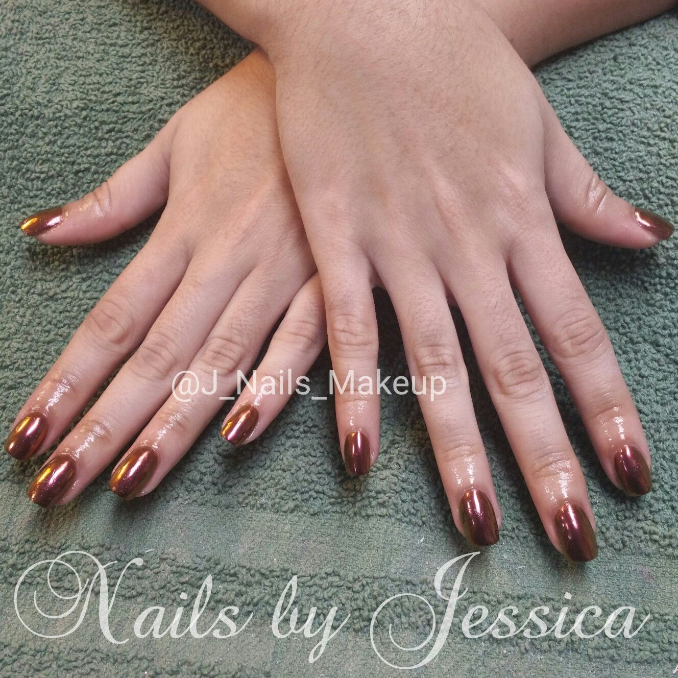 Nexgen dip powder nails with chrome.   Nails By Yours Truly   Pinterest
