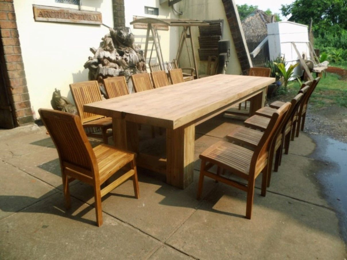 Rustic Teak Table - for patio