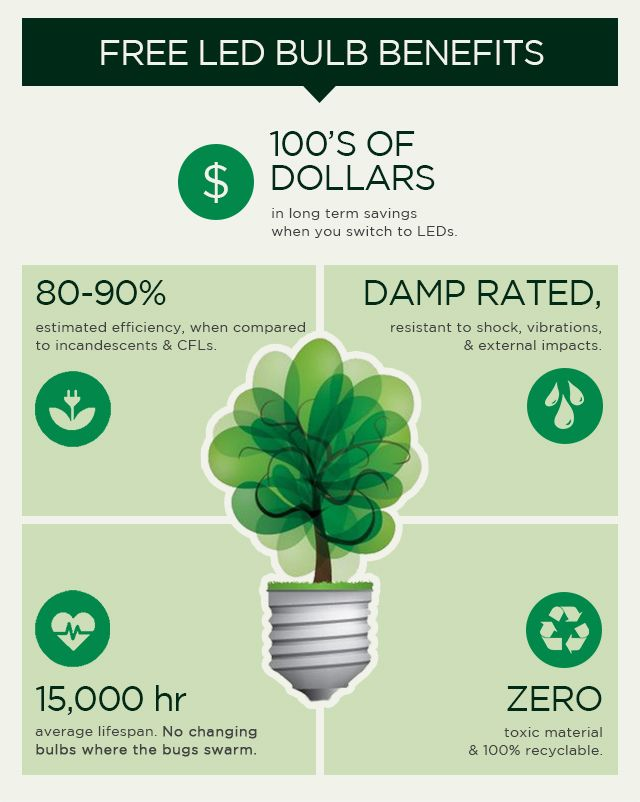 LEDs offer 100s of Dollars in long term savings.  Take advantage of our FREE LED bulbs when you purchase a qualifying outdoor lighting product! Get the Details Now.