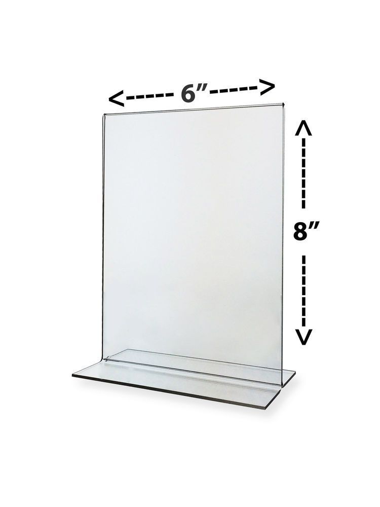 Clear Ad Holder X Table Tent Bottom Load Flyer Display Counter - Acrylic table tent holders
