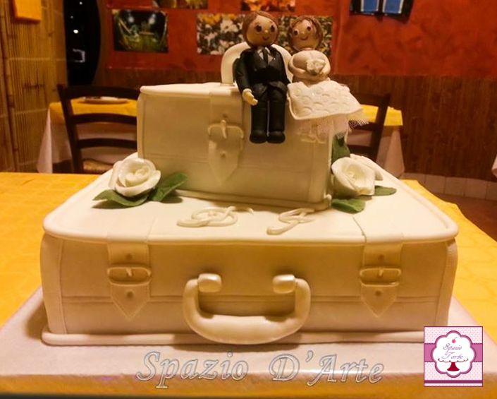 Torta Matrimonio Valigie