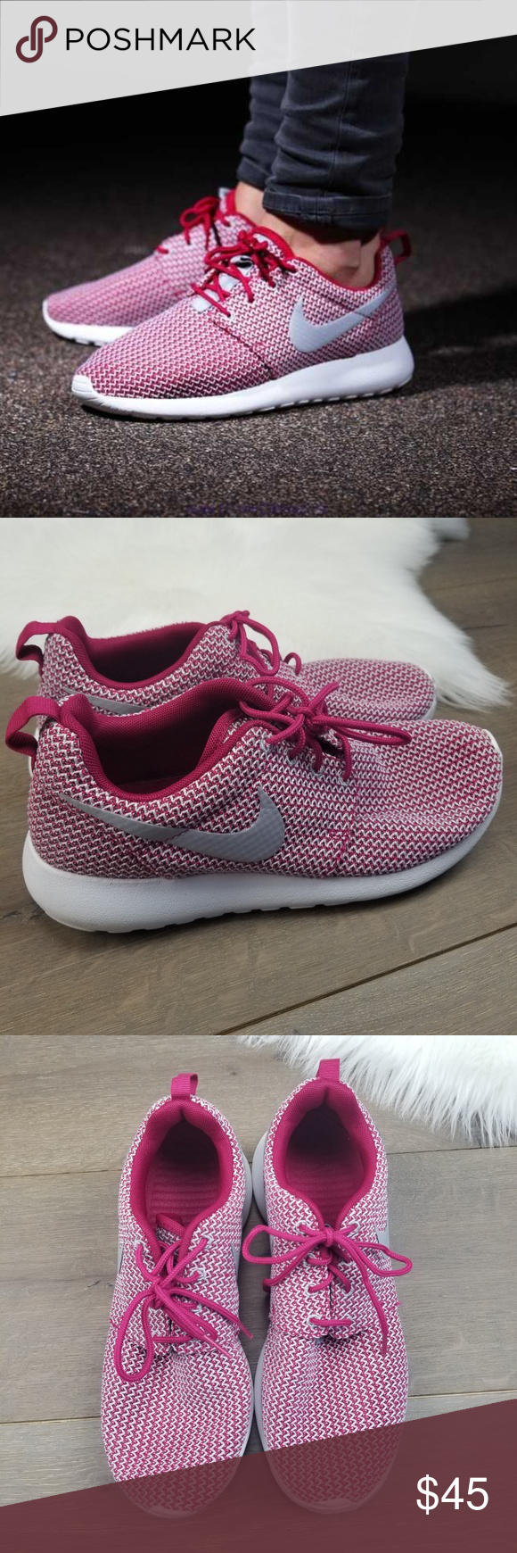 d9efe8396bb6 NIKE ROSHE RUN Womens 9.5 Pre owned in good condition only flaws has some  marks in the front. see pictures Nike Shoes