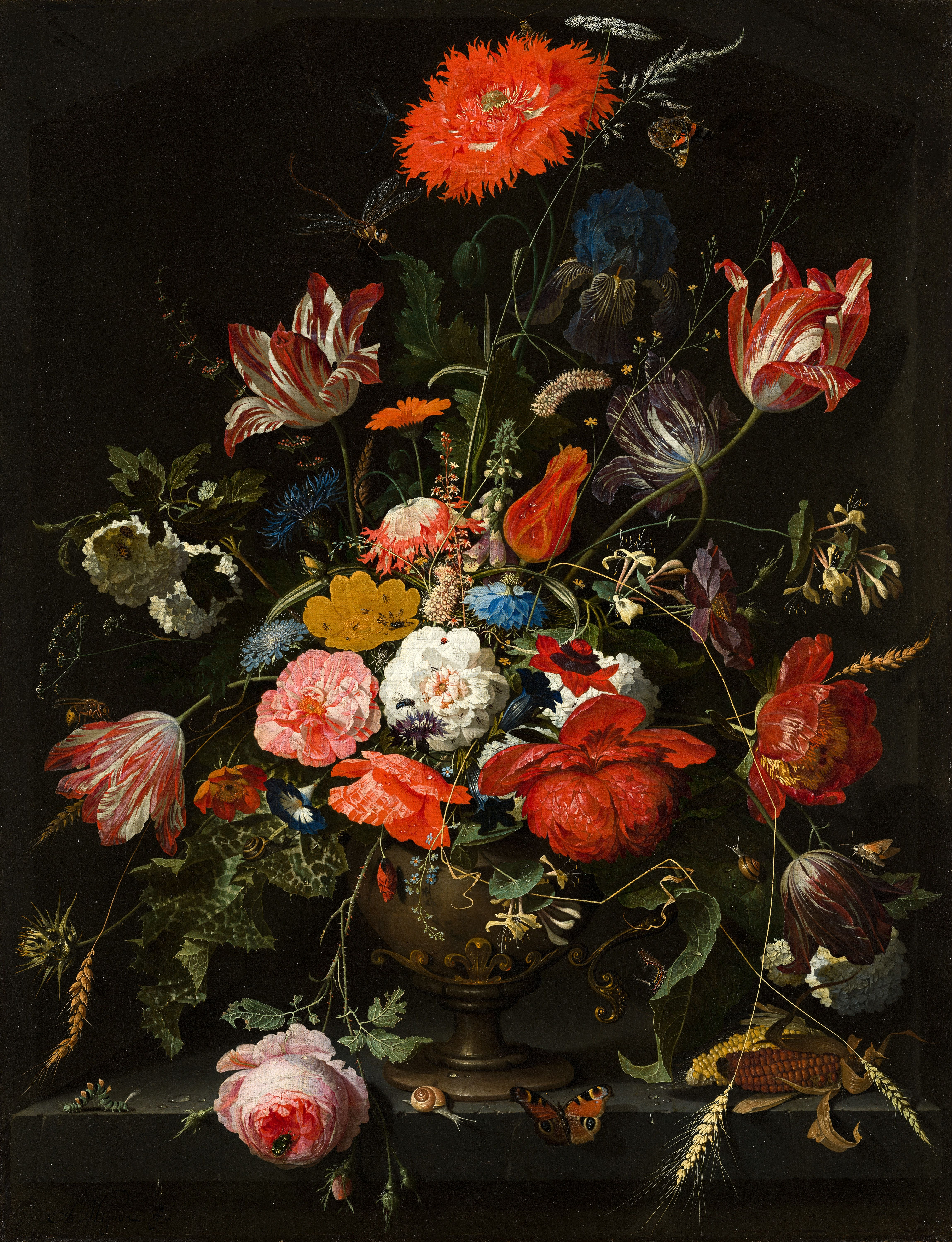 Flowers In A Metal Vase The Hague Netherlands In 2020 Flower Painting Fine Art Painting Oil Famous Art Paintings