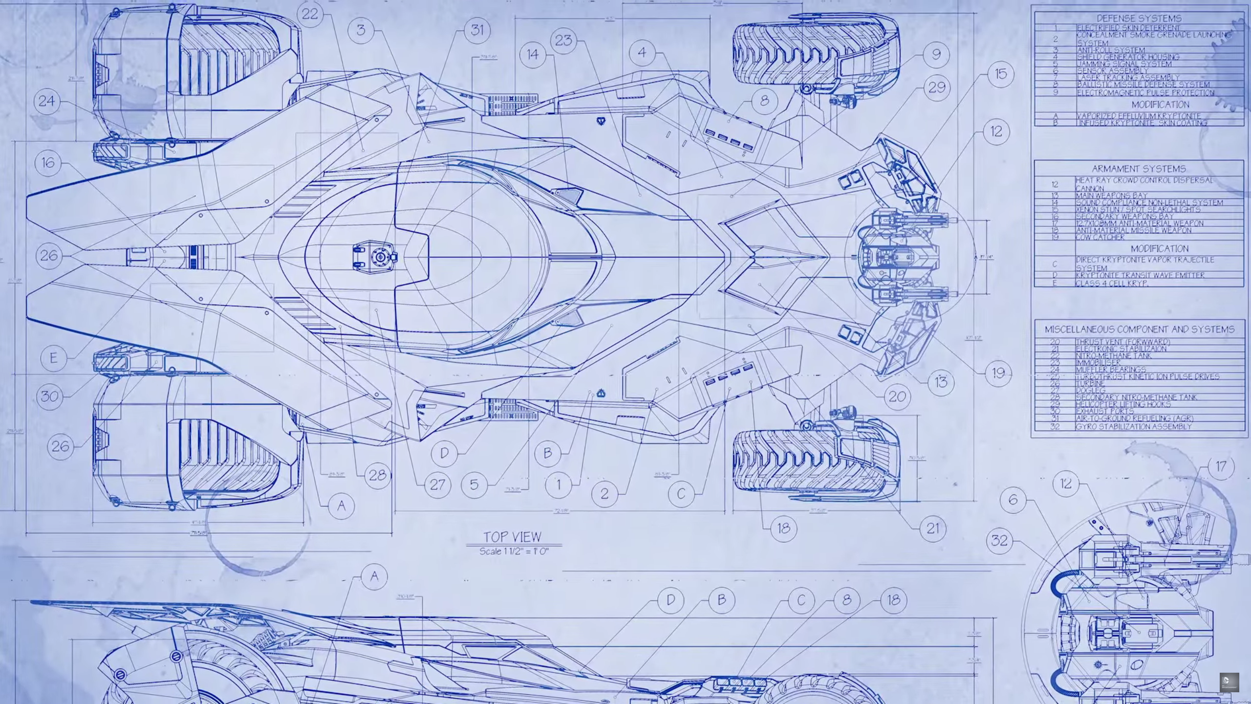 The batmobile in batman v superman will definitely have batmobile blueprint malvernweather Image collections