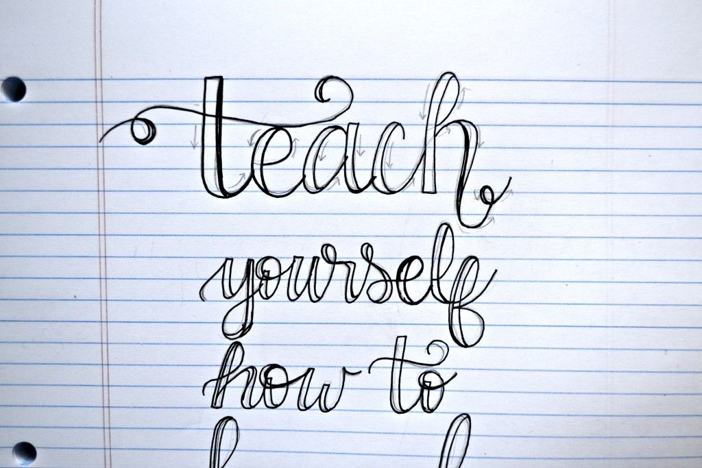 Download Teach Yourself How to Hand Letter | Lettering alphabet ...
