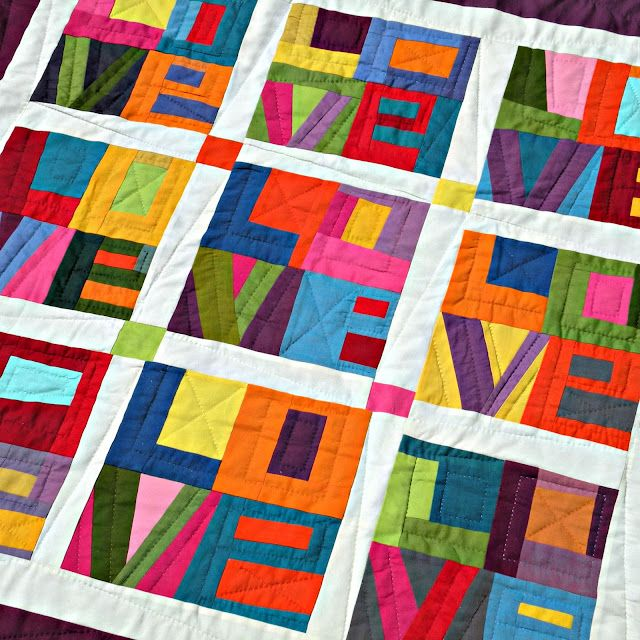 Not my normal style but I find this quilt quite striking!