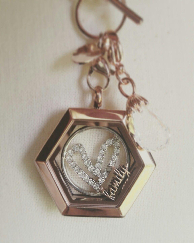 Origami Owl living locket necklace. Color rose gold. Word inside ...   1440x1152