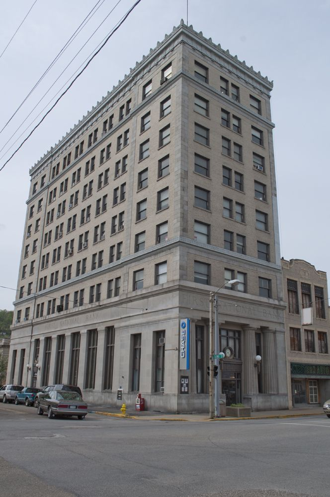 The First National Bank Building In Bellaire Ohio Historic