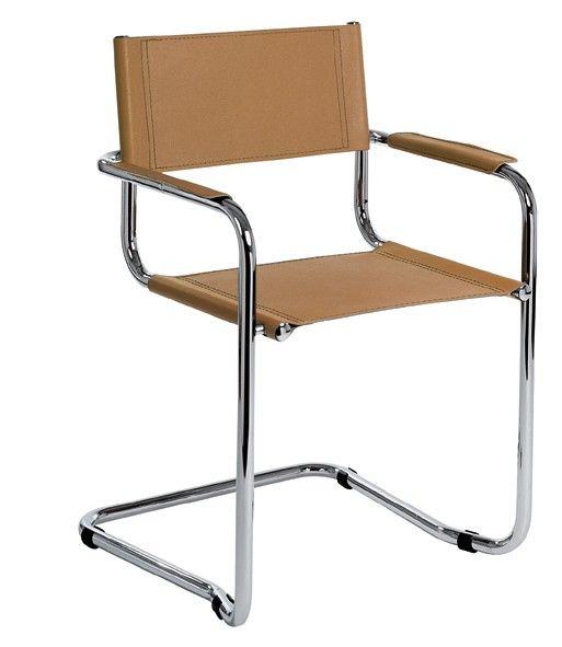 freischwinger stuhl leder braun m belideen. Black Bedroom Furniture Sets. Home Design Ideas