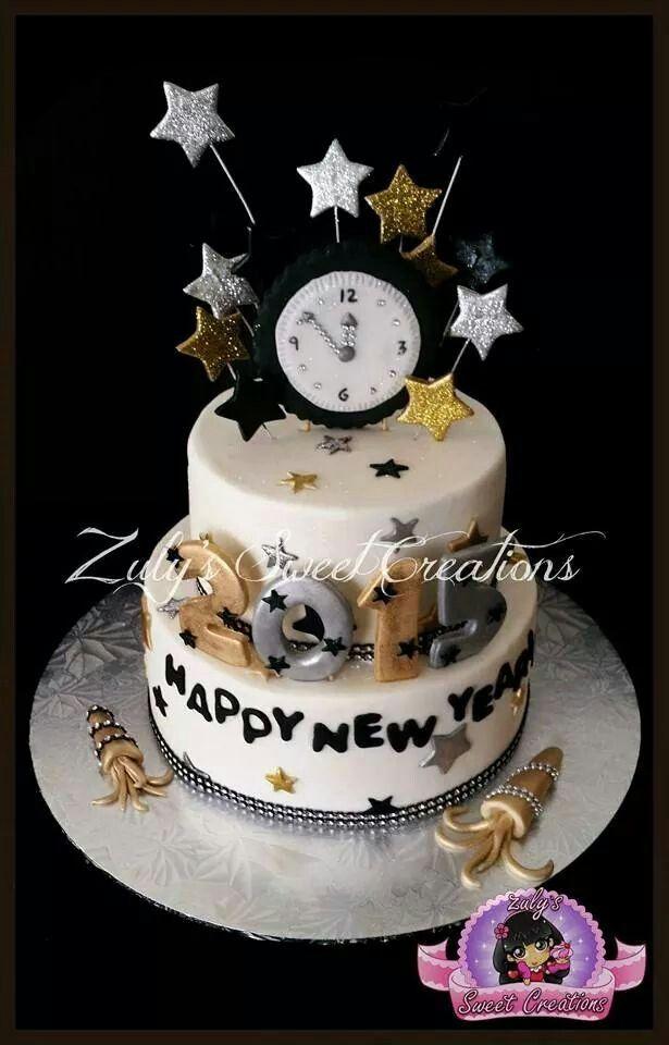 New year cake cake design pinterest g teau no l et faire - Gateau pour reveillon nouvel an ...