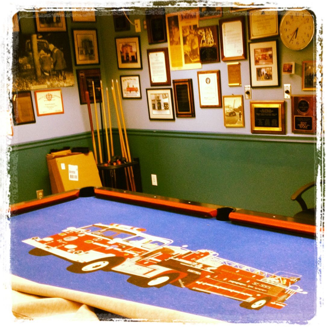 One of the coolest pool table felts I've ever seen! Pool