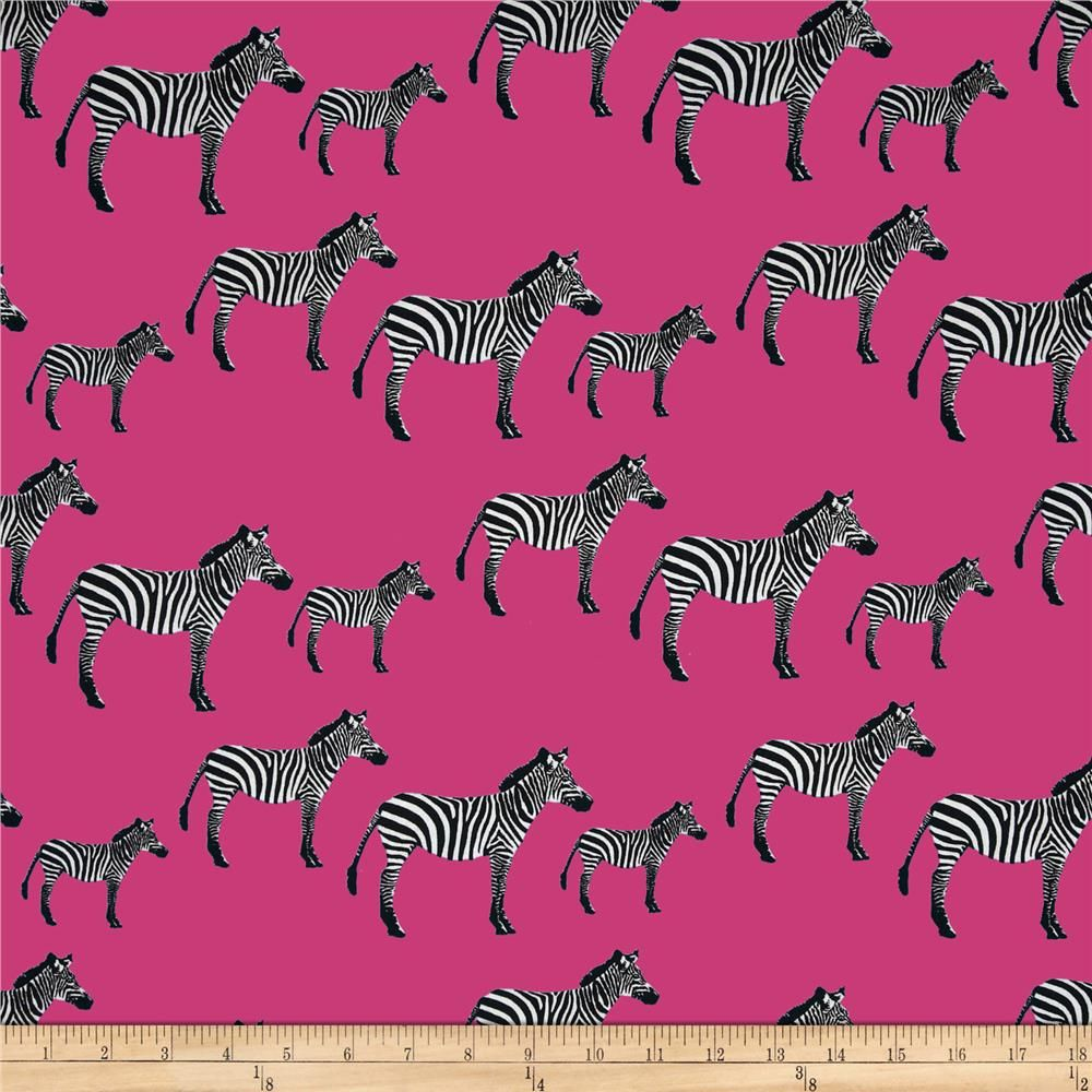 Timeless Treasures Zebras Pink from @fabricdotcom  Designed by Alice Kennedy for Timeless Treasures, this cotton print fabric is perfect for quilting, apparel and home decor accents. Colors include pink, black, and white.