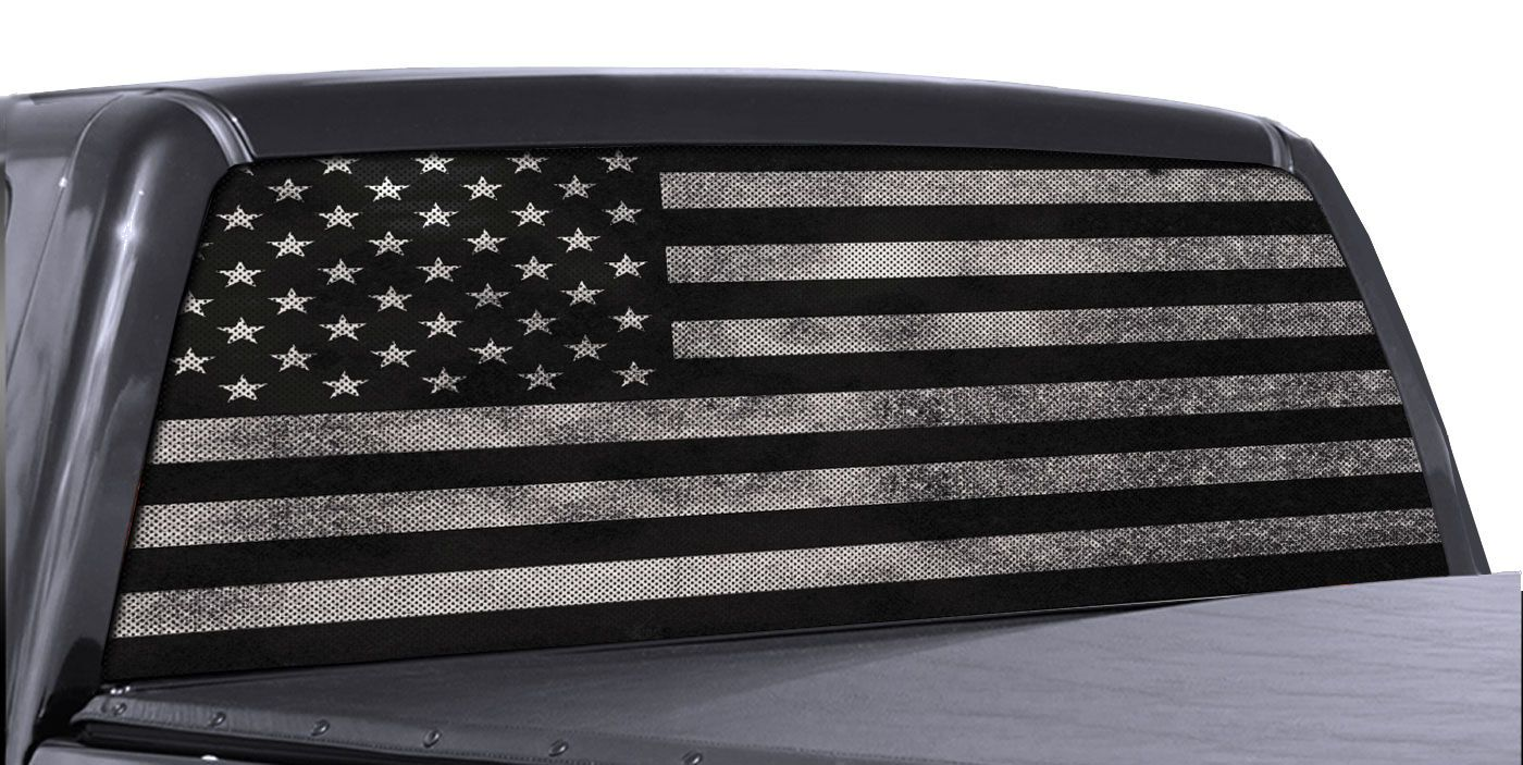 Details about Truck Rear Window Decal Black & White