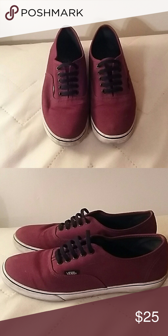 856ce948d0 Vans in Authentic style Lightly worn maroon colored Vans. Still in really  good shape. Vans Shoes Sneakers