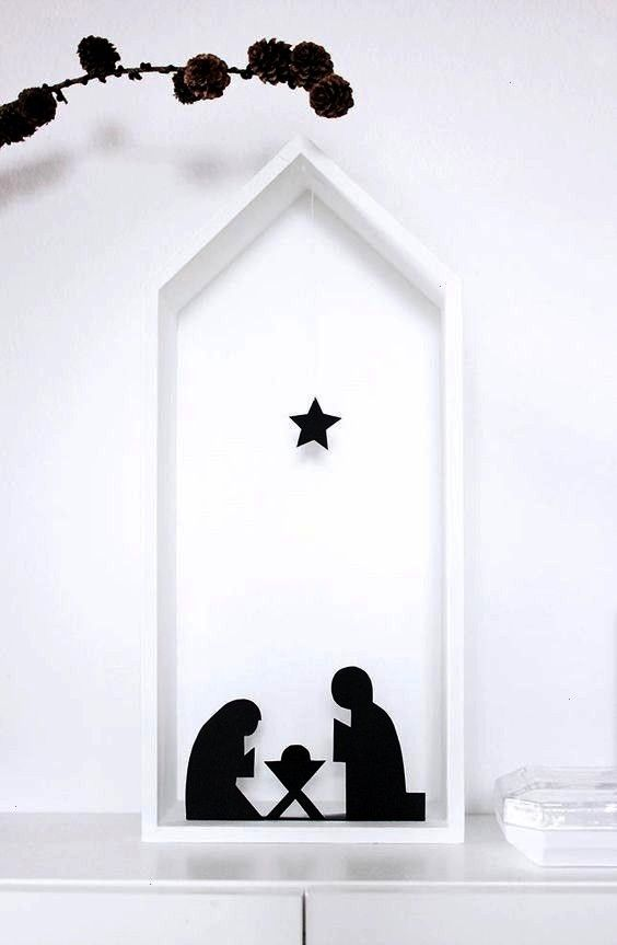 DIY a crib for puristsbrisk DIY cool crib made of paper  DIY nativity scene made of black papersuper brisk DIY a crib for puristsbrisk DIY cool crib made of paper  DIY na...