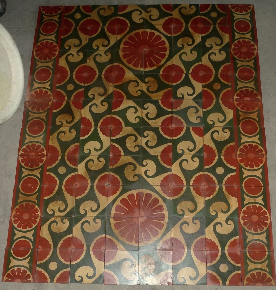 Decorative Porcelain Tile Gorgeous Vintage Decorative Cement Tiles Made In Usa Set Of 80 Floor Tiles Design Ideas