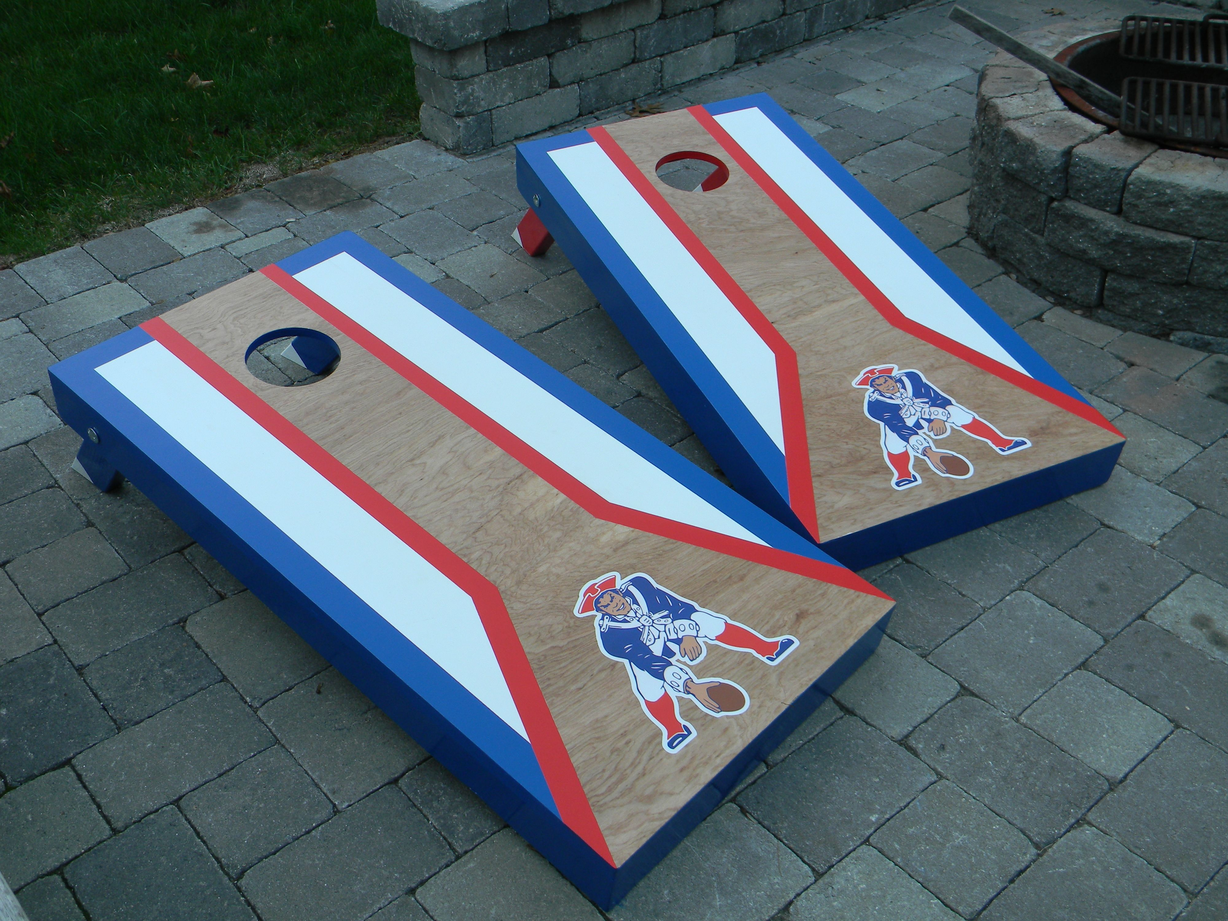 New England Patriots Cornhole boards check out MCB @ www.facebook ...