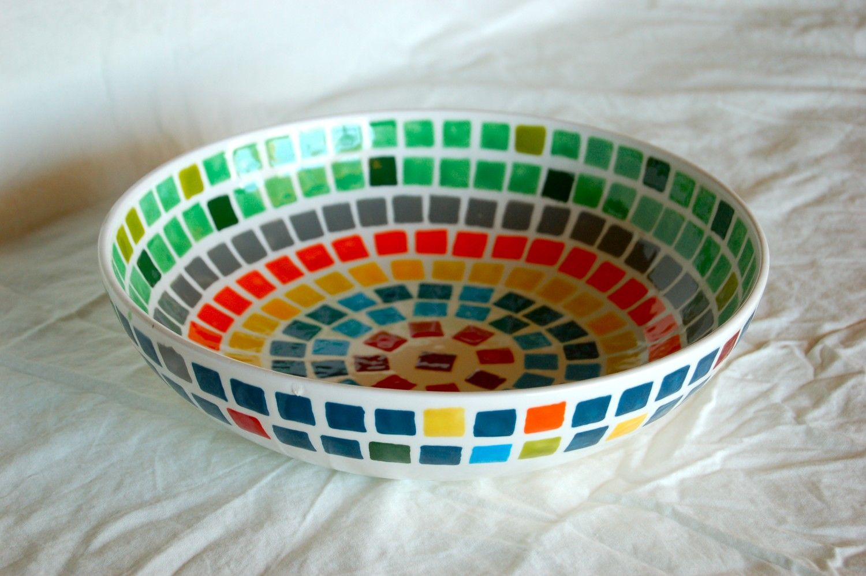 The Color Wheel Mosaic Serving Bowl