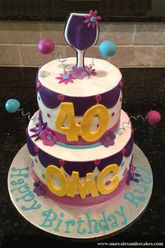 40 Year Old Birthday Cakes