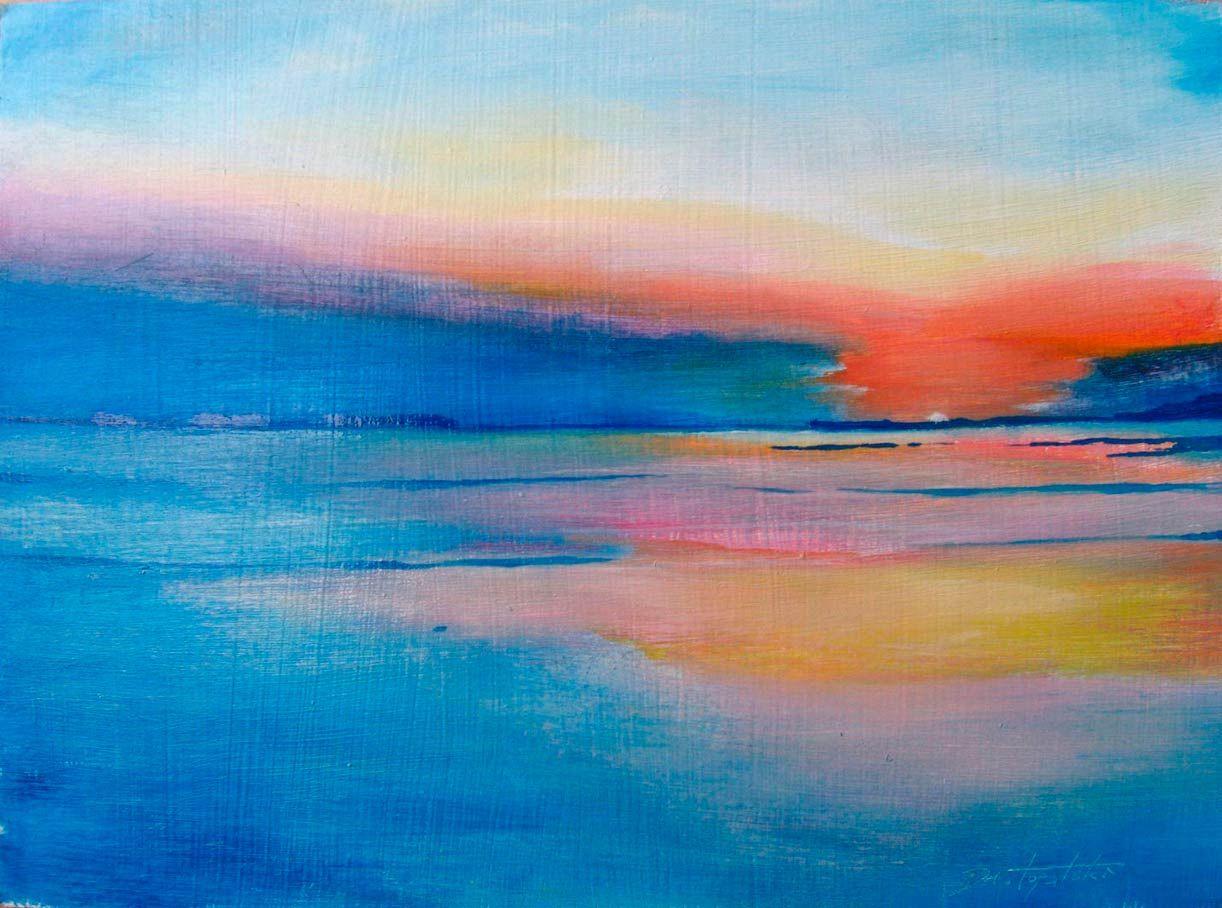Watercolor artists names - Oil Painting On Hdf By Fine Artist Darko Topalski Name Seascape Medium Oil Support Masonite Hdf Gessoed High Density Fiberboard Size