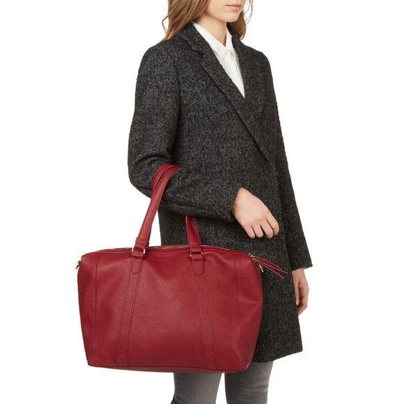 bfeea32b1f Monoprix - Sac 24H en simili cuir Pochette Femme, Monoprix Femme, Cuir  Rouge,