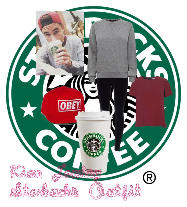 """""""Kian Lawley Starbucks Outfit"""" by justafangirl4ever ❤ liked on Polyvore featuring мода, OBEY Clothing, True Decadence и Jaeger"""