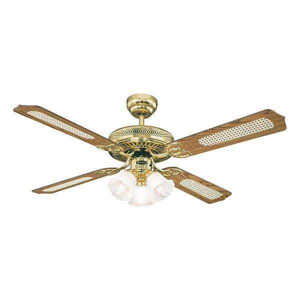 Westinghouse Monarch Trio 52 Inch Polished Brass Ceiling Fan