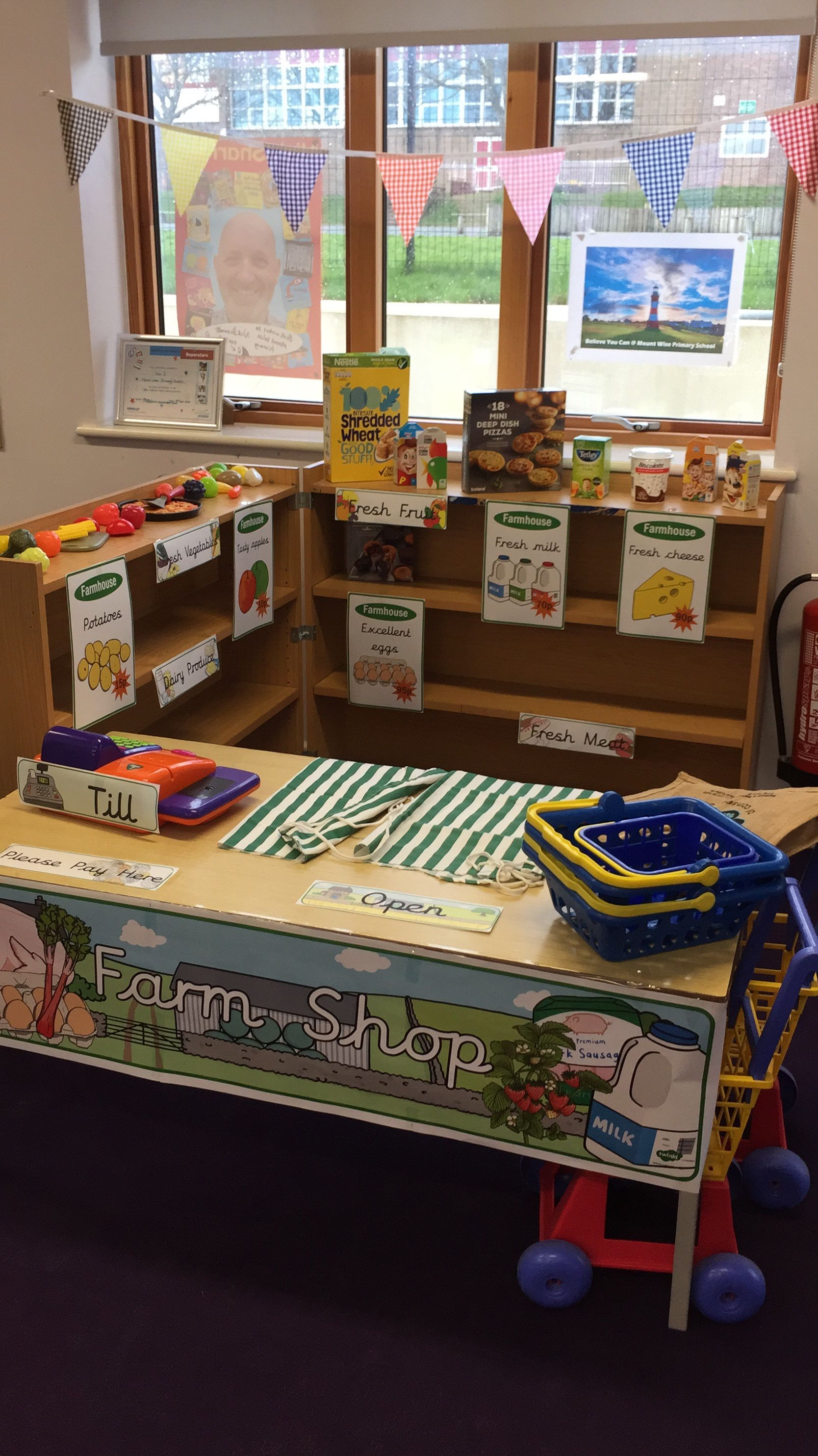 Farm Shop Role Play Area For A Year 1 Primary Ks1 Healthy Eating Topic