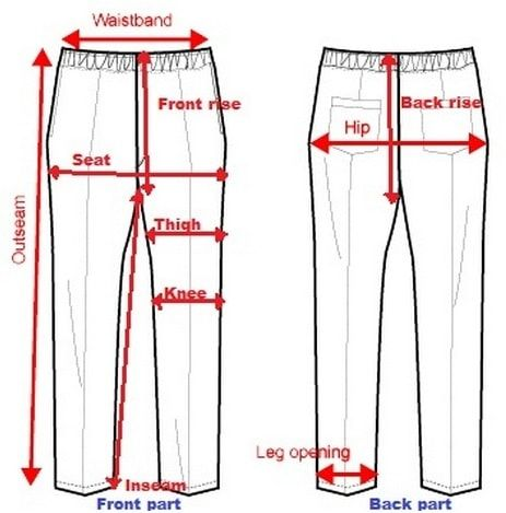 Size Measurement Of Pant Men Pants Pattern Trousers Pattern Sewing Measurements