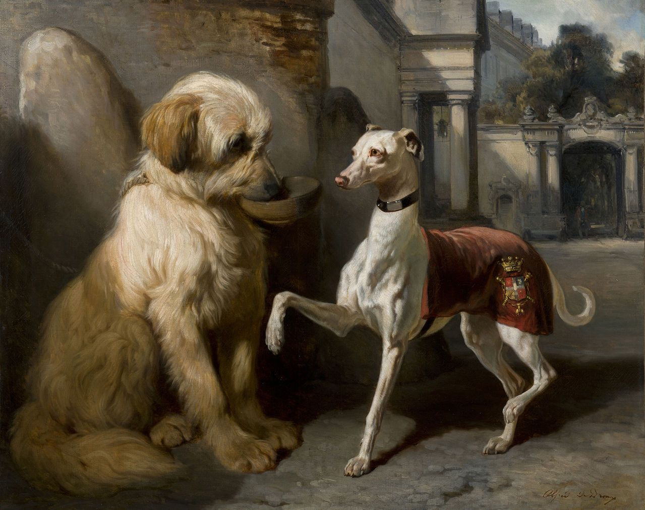 Rich And Poor By Alfred De Dreux In 2020 Dog Art Dog Paintings