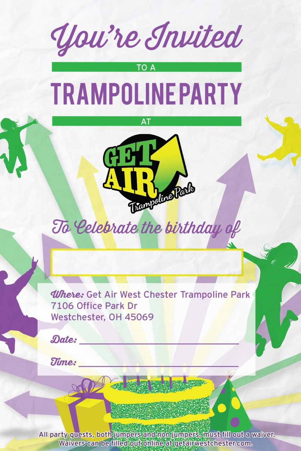 Click customize now for prices Personalised Trampoline Birthday Invitations /& Envelopes