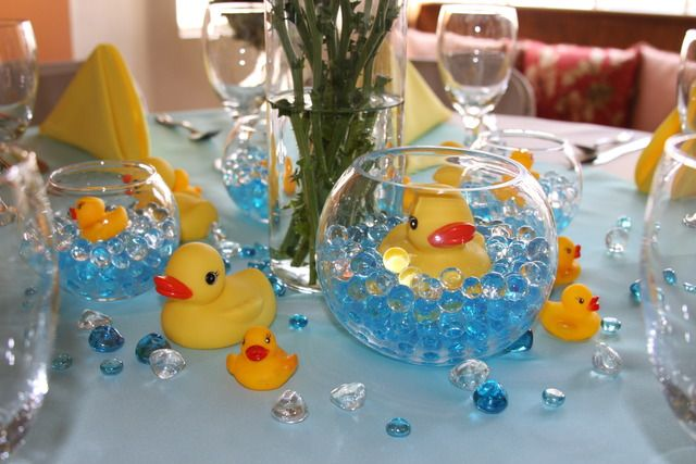 rubber ducks baby shower party ideas canards b b et accessoire de fete. Black Bedroom Furniture Sets. Home Design Ideas
