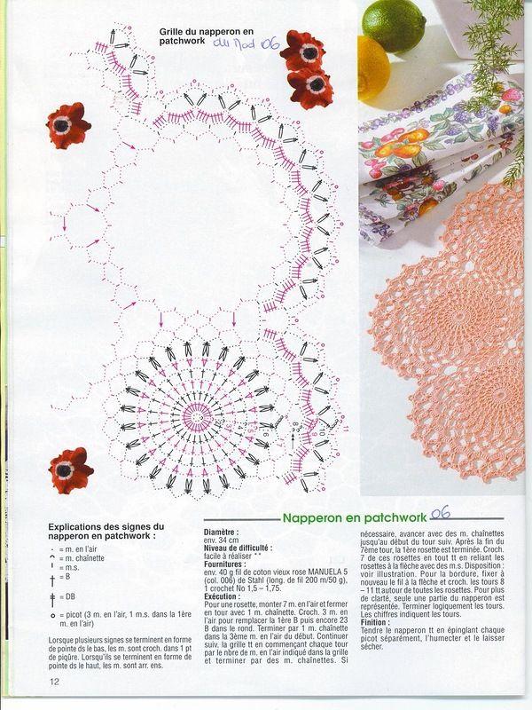#57_PEACH Crochet Lace Doily Chart (part 2 of 2)