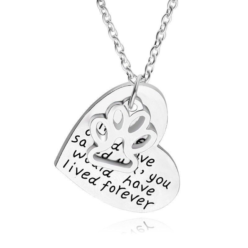 "Necklace ""If love could have saved you, you would have lived forever"""