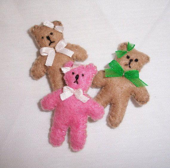 Tiny teddy bear by picklebearies on Etsy, $2.00