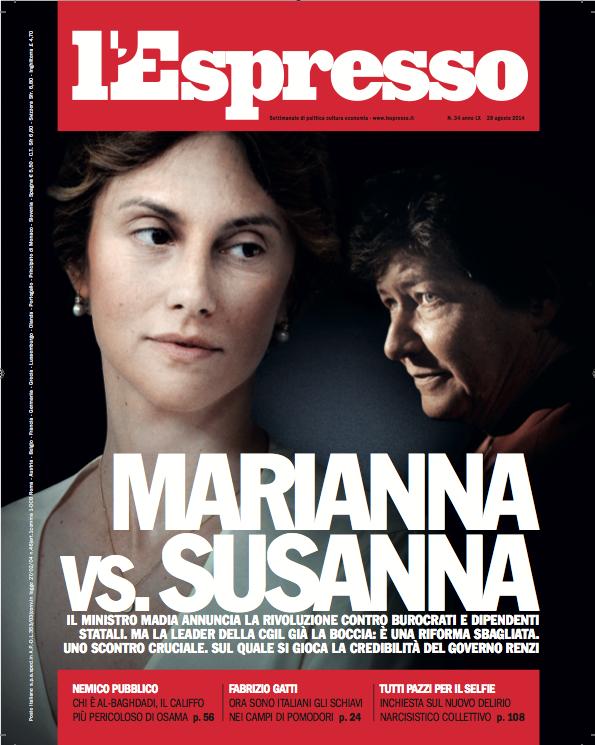 La copertina dell'Espresso in edicola da venerdì 22 agosto