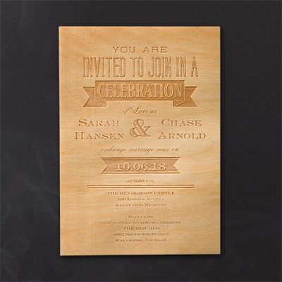 Etched Banners Invitation Wedding Ideas Invites Invitations View A