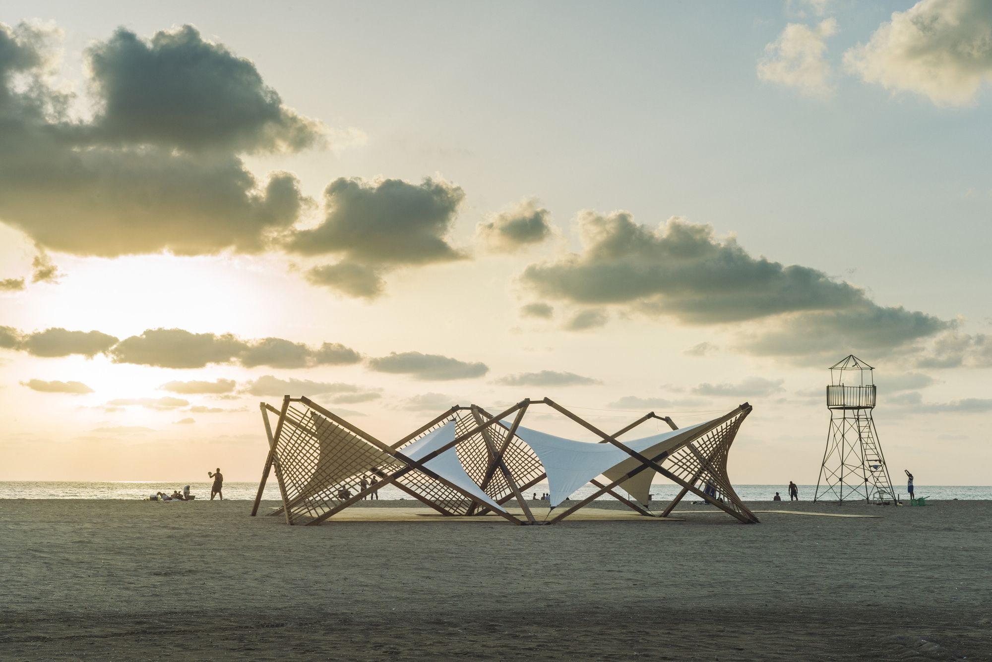 Photo of Gallery of Lightweight Wooden Deployable Structure Aims for …