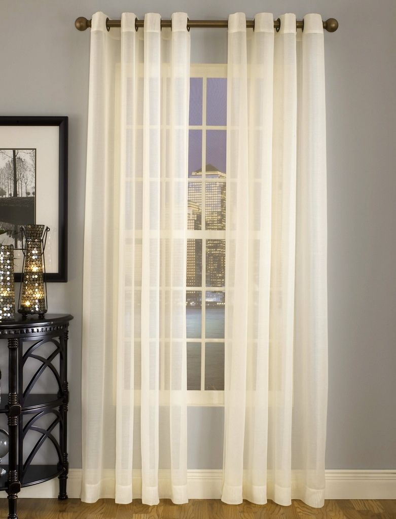 Wonderful Splendor Sheer Grommet Top Curtains Are Made With Batiste Fabric, Available  In 7 Colors.